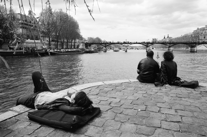Paris- Garden of the Pont Neuf - April 2009 - Nikon F3; Nikkor 24mm