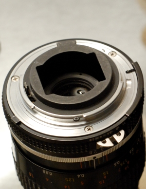 Nikon F - metering prong on AI lens