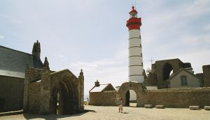 Lighthouse of the Pointe St Matthieu (near Brest, France)-by default APS cameras shot in APS-H format (16x9 proportions)
