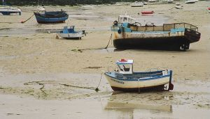 Portsall harbour low tide (near Brest, France)