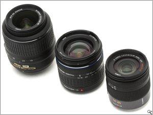Size comparison: Nikon 18-55 DX, Olympus 14-42, Panasonic 14-45 Micro 4/3