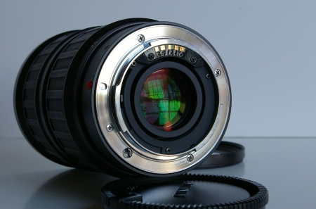 Minolta A Mount (on the Angenieux 28-70 zoom)