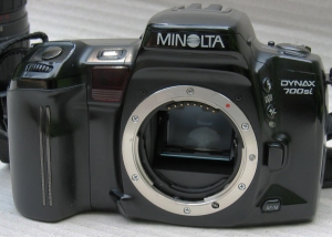Minolta A Mount on a 700si body (1993)