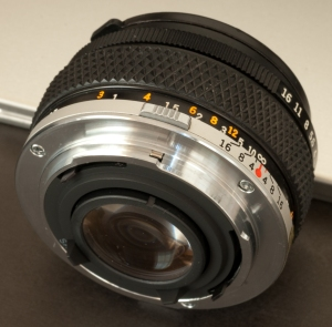 Olympus OM mount: one of the nicest.