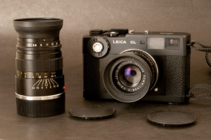 Leica CL with its two lenses