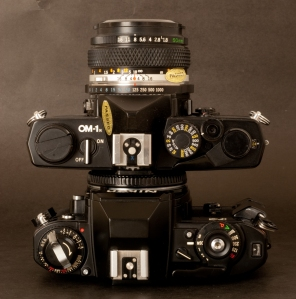 Olympus OM-1 and Nikon FG