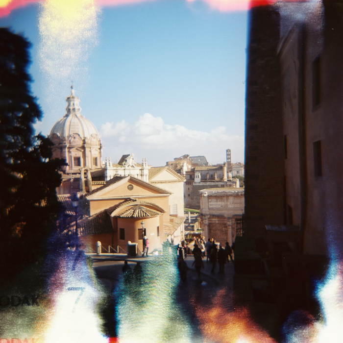 Rome - View of the Curia from the Campidoglio - Holga 120 CFN