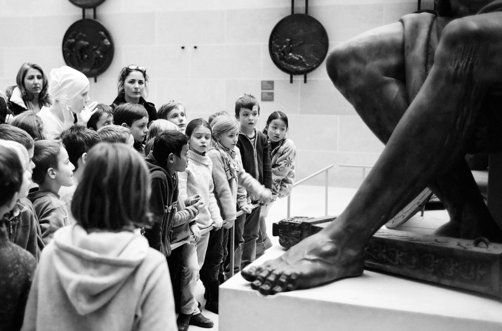 A class at the Louvres Museum- Jan.2010. Paris