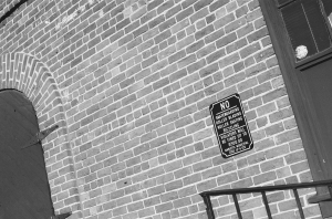 Marietta-the wall of the train station