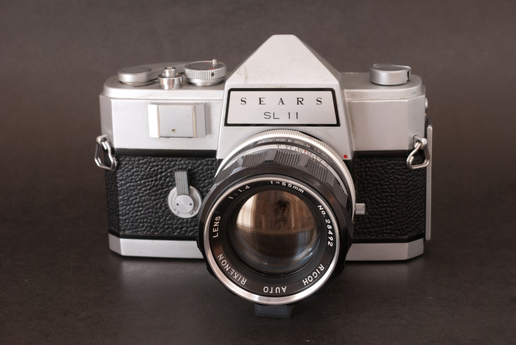 The Sears SL11 with the standard Rikenon 55mm lens