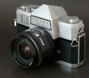 The Sears SL11 with a Nikon 24mm AF lens. It simply works.
