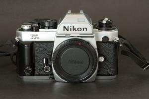 Nikon FA with handgrip
