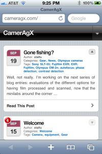 Cameragx blog page
