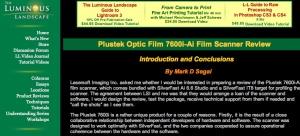 Luminous Landscape Plustek Scanner test