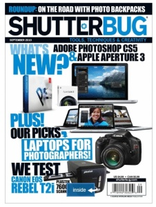 Shutterbug-Sept 2010 cover page