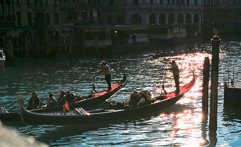 Venice - gondoliers