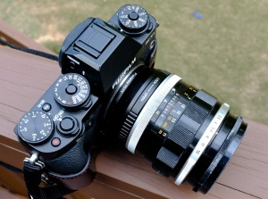 Canon FD to Fuji X adapter, and Canon FL 55mm