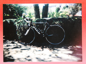 Fuji bicycle - Instax Mini film - Holga camera with Instax back (AFAIK Fujifim is not in the bicycle business. It's a coincidence)