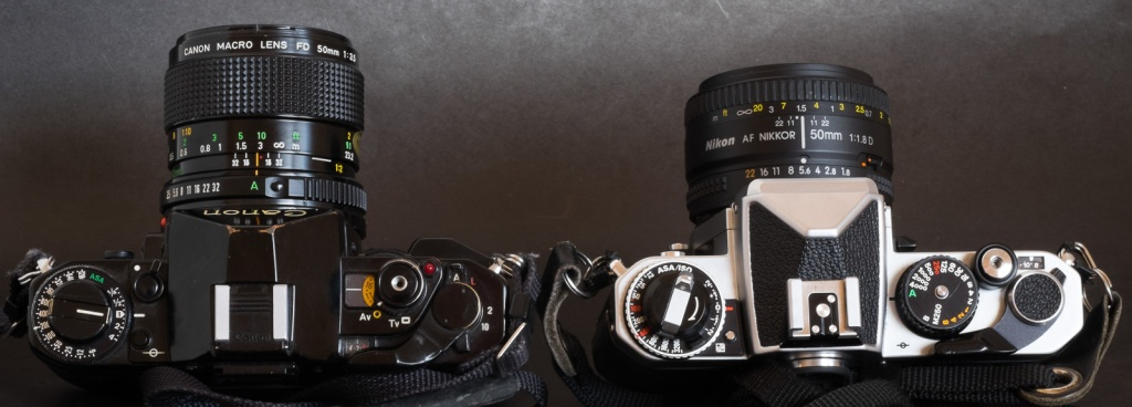 Canon A-1 and Nikon FE2 - Control Wheel vs conventional ergonomics