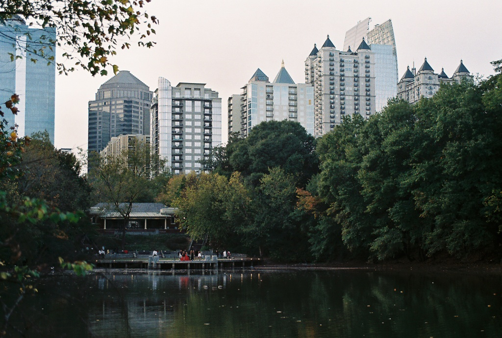 Midtown Atlanta from Piedmont Park - Canon A-1 - 35-105 Zoom -
