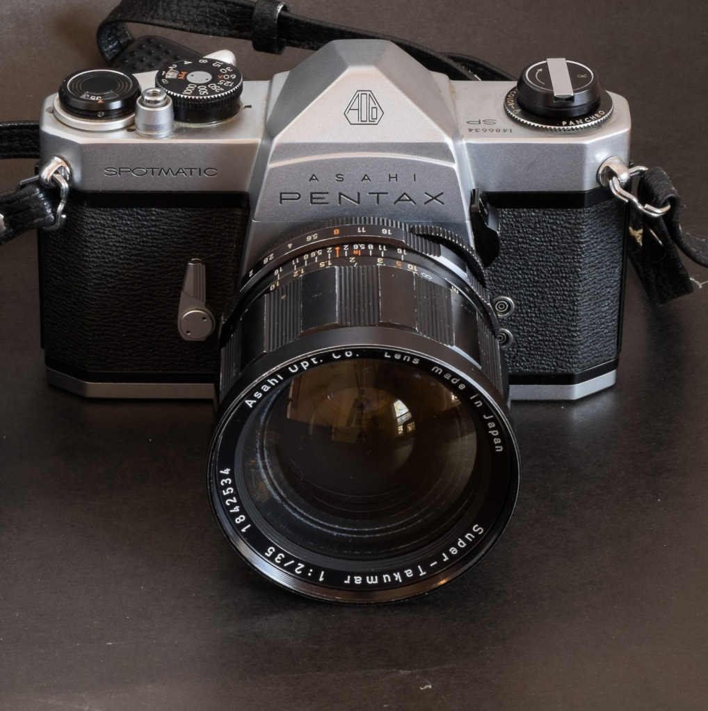 Pentax Spotmatic SP with 35mm f/2 lens