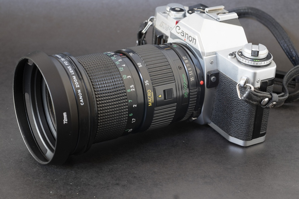 Canon AV-1 with a Canon 35-105 zoom.