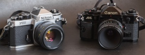 Nikon FE2 - Canon A-1 - the cameras of the enthusiasts in the late seventies-early eighties