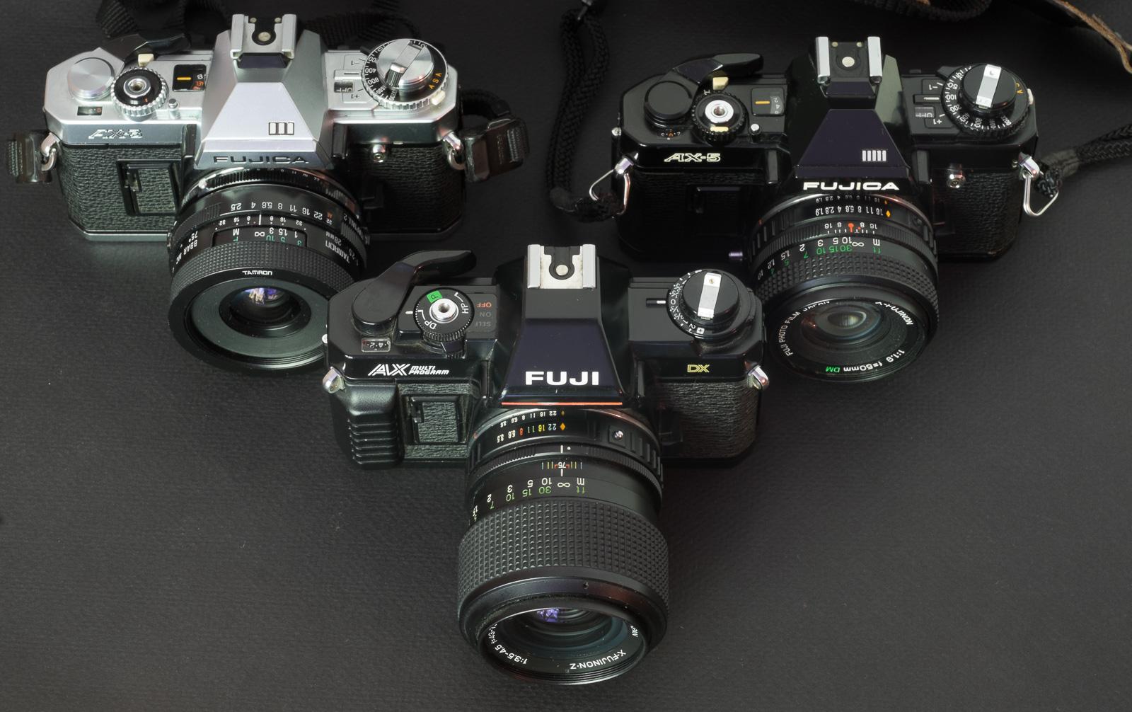 Fujica AX-3, AX-5 and AX Multi Program