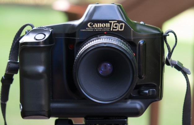 Canon T90 with a Canon 50mm f/3.5 macro lens.