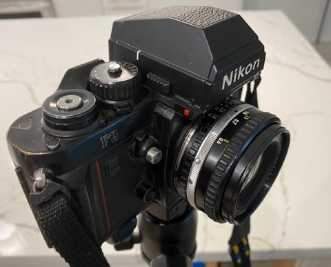 Nikon F3 with its HP Viewfinder